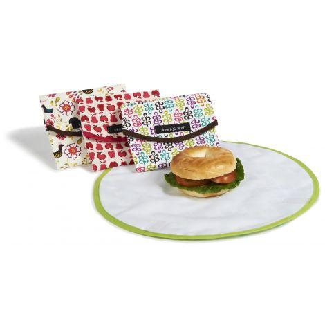 Pochette ronde pour goûters et sandwiches - Robots