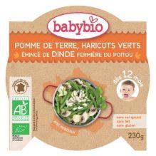 Pomme de terre, haricots verts et émincé de dinde (dès 12 mois) - 230 g