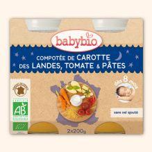 Compotée de carotte des landes, tomates et pâtes (dès 8 mois) 2 x 200 g