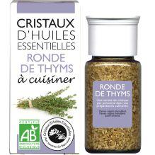 Cristaux d'huiles essentielles à cuisiner - ronde de thym - 10 g