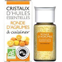 Cristaux d'huiles essentielles à cuisiner - agrumes - 10 g