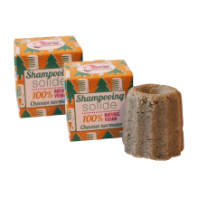 2  x Shampooing solide cheveux normaux Sapin 55 g