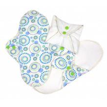 Serviettes hygiéniques lavables en coton BIO - REGULAR - Orbit - pack de 3