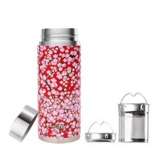 Théière nomade isotherme en inox 300 ml Washi rouge