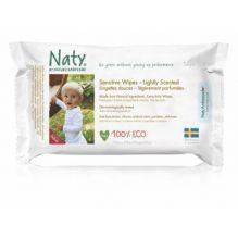 Lingettes douces pour bébé - Légèrement parfumées 100% ECO - 56pcs