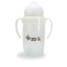 Gobelet avec paille lestée  Sans BPA ni phtalate Blanc - 295 ml