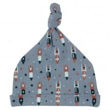 Bonnet en coton BIO -  Fusées et étoiles