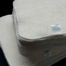 25 lingettes bambou et coton velours - blanc