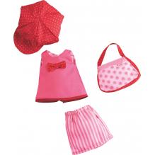 Ensemble de vêtements pour poupée 'Rose-rouge' - à partir de 18 mois