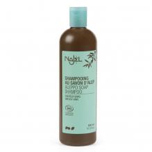 Shampooing 2 en 1 nettoyant et démêlant au savon d'Alep pour cheveux gras - 500 ml