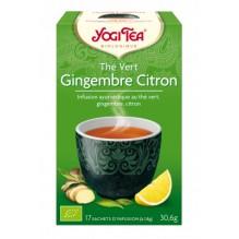 Thé vert Gingembre Citron 17 sachets