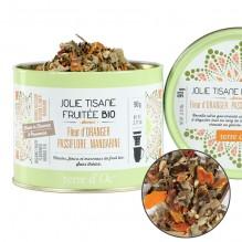 Jolie tisane fruitée Bio Fleur d'Oranger, Passiflore, Mandarine 90 g