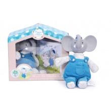 Set cadeau éléphant Alvin et mini livre
