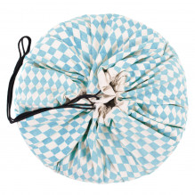 Sac de rangement et tapis de jeu - Diamond bleu - dès la naissance