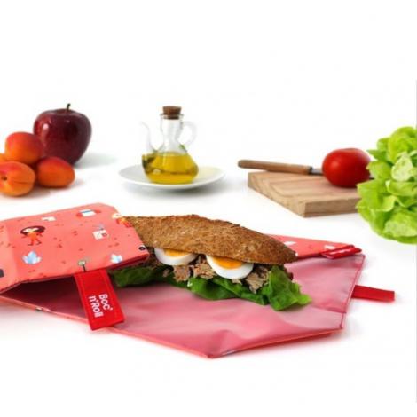 Pochette sandwich lavable et réutilisable Boc'n'Roll - Kid Orange