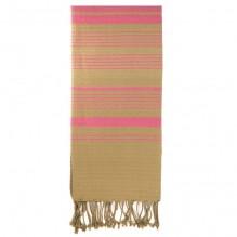 Fouta Sand en coton Bio Rose Indien 100 x 200 cm