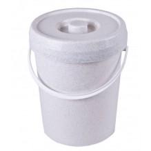 Seau à couche 12 litres Blanc cassé moucheté