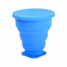 Stérilisateur téléscopique pour coupe menstruelle - bleu