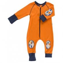 Pyjama / combi en coton 100% BIO certifié GOTS - Orange chiné