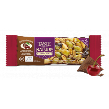 Barre aux noix et fruits secs - Chocolat noir Cerise - 1 x 40 g **