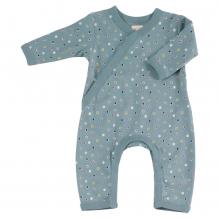 Pyjama bleu longues manches en coton BIO - pois multicolores