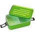 Grande boîte à repas en alu vert avec insert en silicone