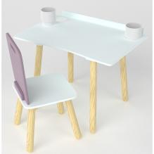 Bureau d'écolier + chaise - Prune