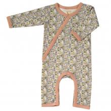 Pyjama kimono en coton BIO - Fleurs roses