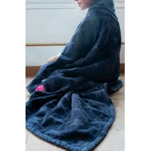 Couverture en coton BIO - Bleu marine