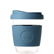 Gobelet en verre avec capuchon à bec - 355 ml - Blue Stone
