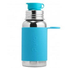 Gourde bouteille en inox - modèle sport - 550 ml - Turquoise