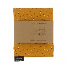 Sac à sandwichs - 16 x 50 cm - Moutarde avec feuilles