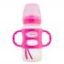 Biberon de transition avec poignées en silicone - 270 ml - Rose