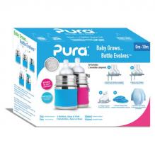 Set de 2 biberons évolutifs en inox - 150 ml - 0 à 18 mois