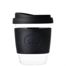 Gobelet en verre avec capuchon à bec - 355 ml - Basalt Black