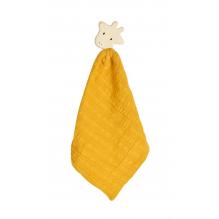 Doudou avec tête de girafe en caoutchouc naturel - Ocre - Dès la naissance
