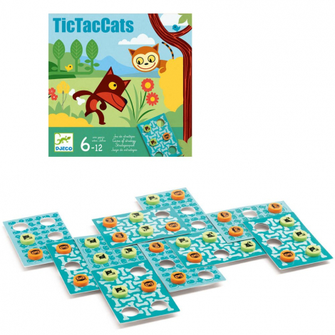 Tic Tac Cats - Jeu de stratégie - à partir de 6 ans