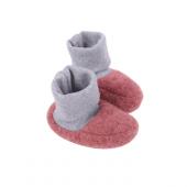 Chaussons en polaire de laine - Vintage Red