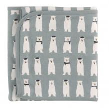 Couverture réversible en coton BIO Ours polaire