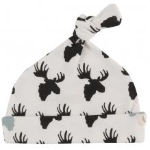 Bonnet en coton BIO - Elan Black and white