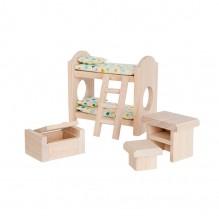Chambre enfant bois maison de poupée - à partir de 3 ans