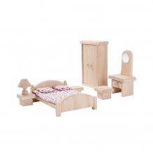 Meubles en bois Classic pour maisons de poupées - Chambre parentale - à partir de 3 ans