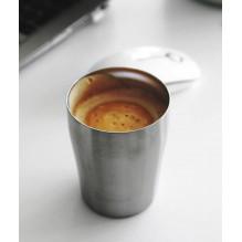 Tasse gobelet en inox brossé - 250 ml
