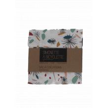 Pochette en coton à collations - 14 x 14 cm - Feu d'artifice