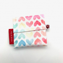 Mini pochette - Watercolour Hearts