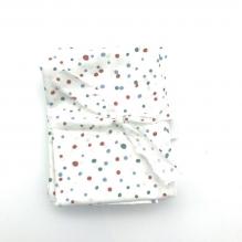3 Mouchoirs lavables et réutilisables de 38 cm - Dots Blue Red