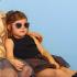 Lunettes de soleil enfant Sun Buzz - 4 à 6 ans - Rose pailettes