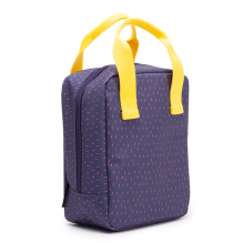 Sac Repas Isotherme - Dashes blue