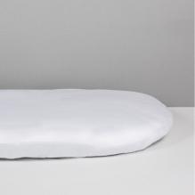Alèse + drap housse 2 en 1  pour lit bébé - 50 x 83 cm - blanc
