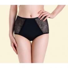 Culotte menstruelle - Taille haute dentelles - Noir
